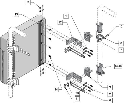 Snaptite Back Hardware (transit Approved) parts diagram