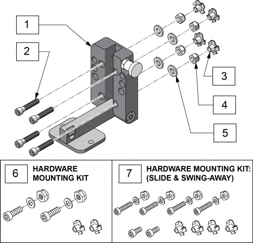 Swing Away Mounting Plate parts diagram