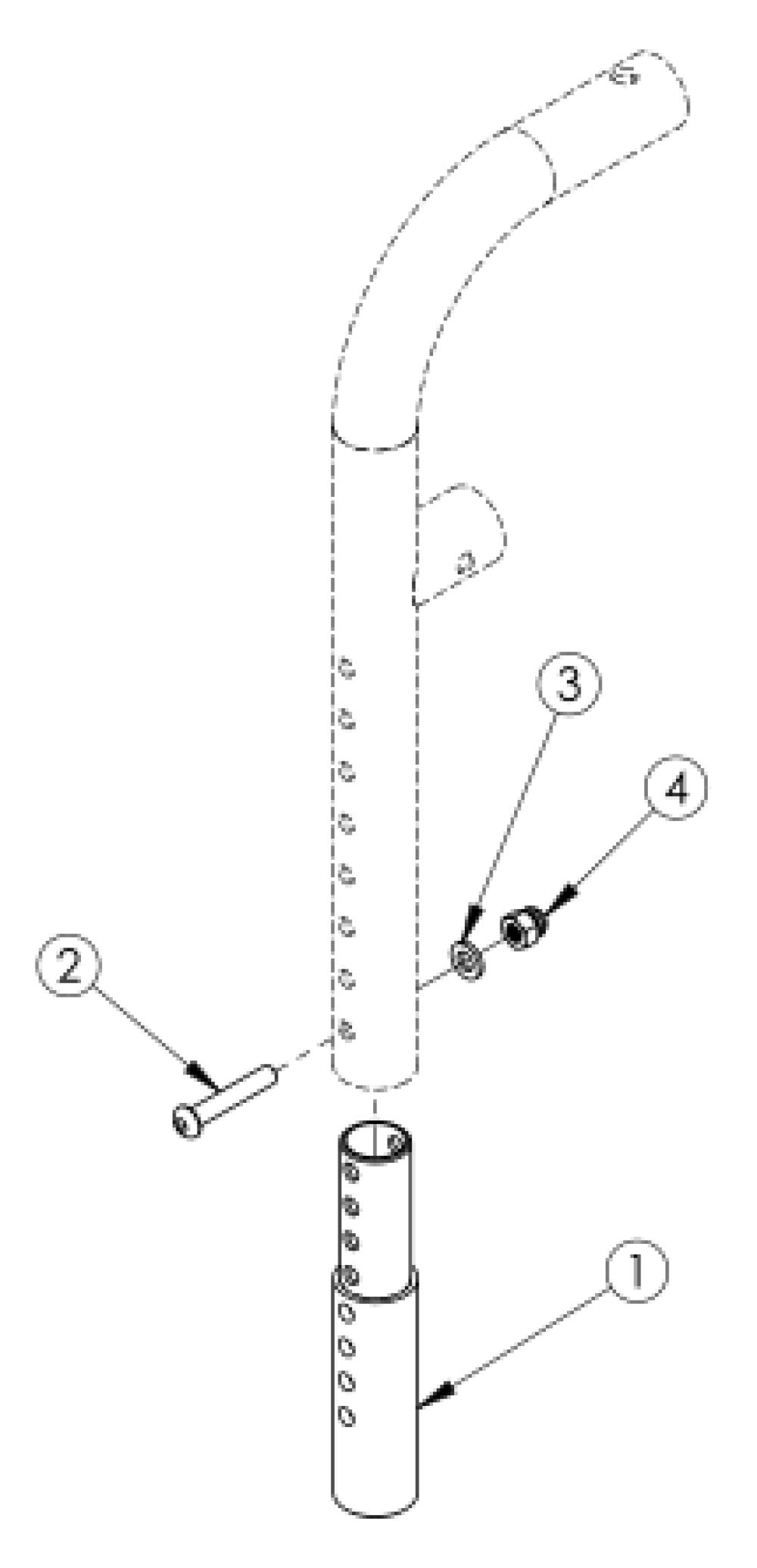 Front Mount Hanger Extension parts diagram