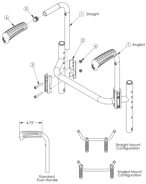 Rigid Bolt-on Push Handle parts diagram