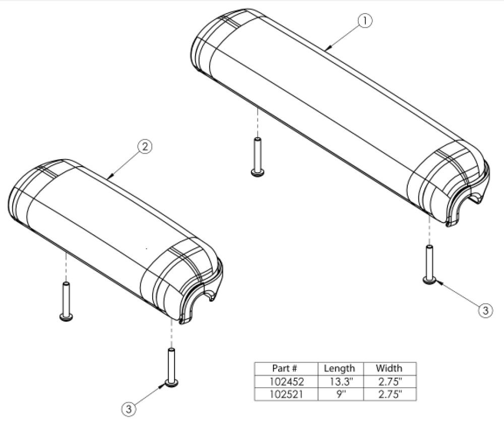 Waterfall Arm Pad parts diagram