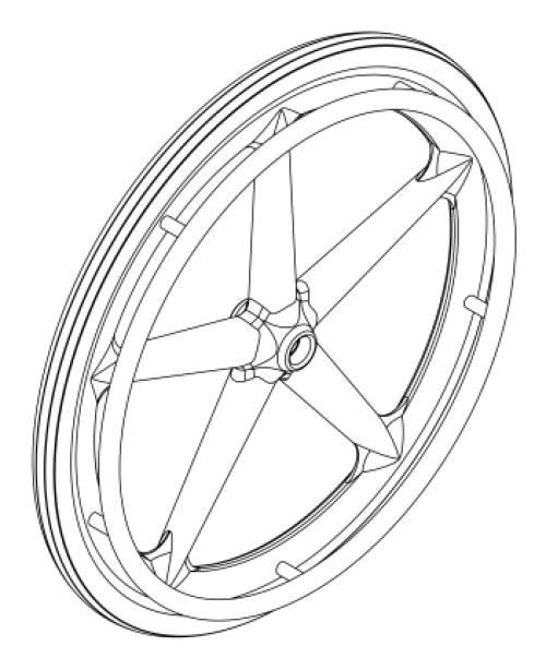 Catalyst Mag Wheel / Tire / Handrim Kits parts diagram