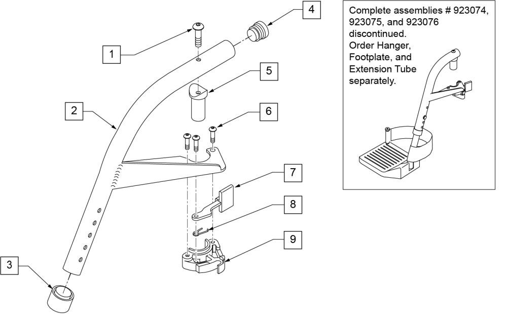 60 Swing Away Hanger parts diagram