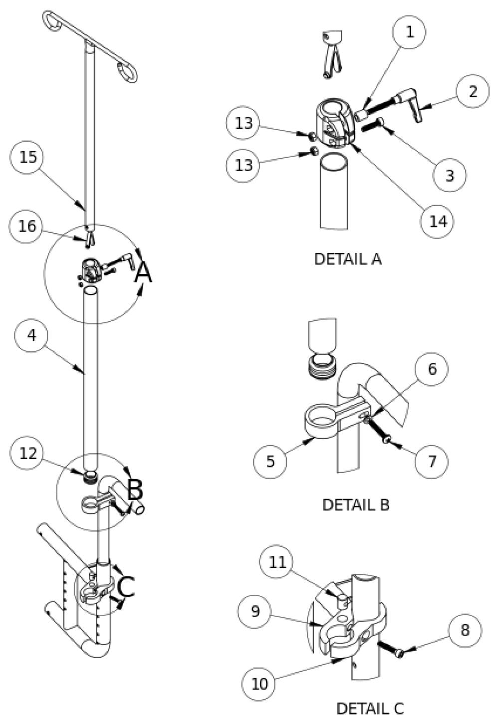 Catalyst Iv Pole parts diagram