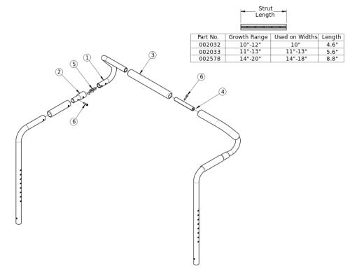 Flip Removable Stroller Handle parts diagram