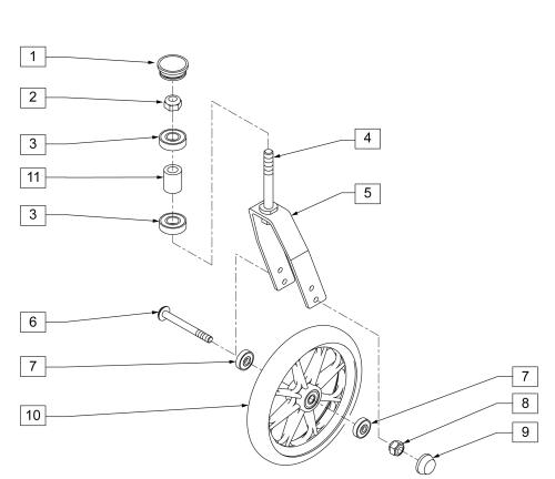 Standard Caster Fork Assm (16