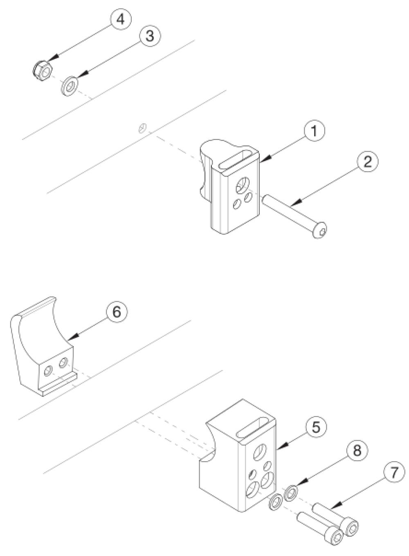 Rigid Side Guard Receiver parts diagram