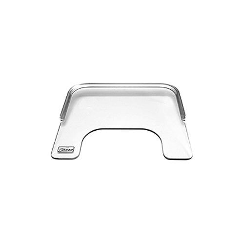 Clear Wheelchair Tray With Aluminum Rim