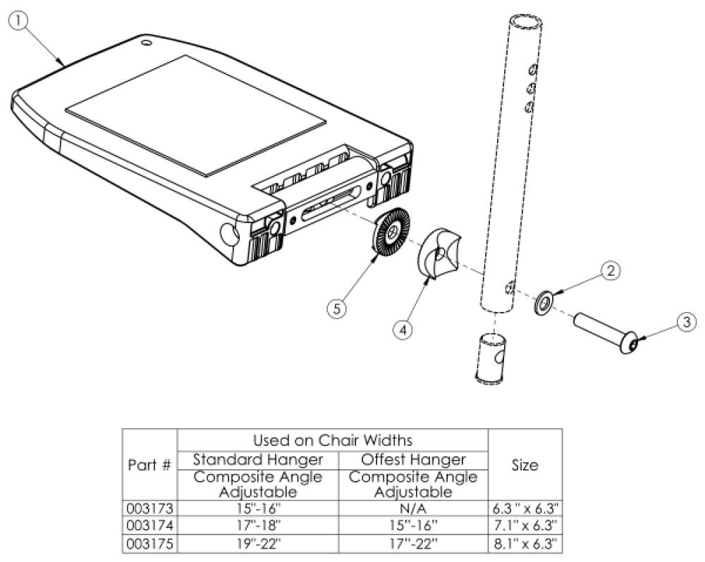 Focus / Flip Composite Angle Adjustable Footplate parts diagram