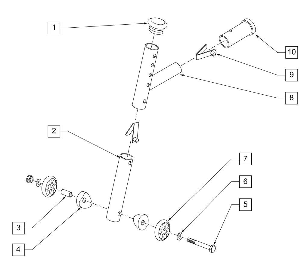 Adjustable Rear Anti-tip (1000, 2000, 2000hd, 3000,4000) parts diagram
