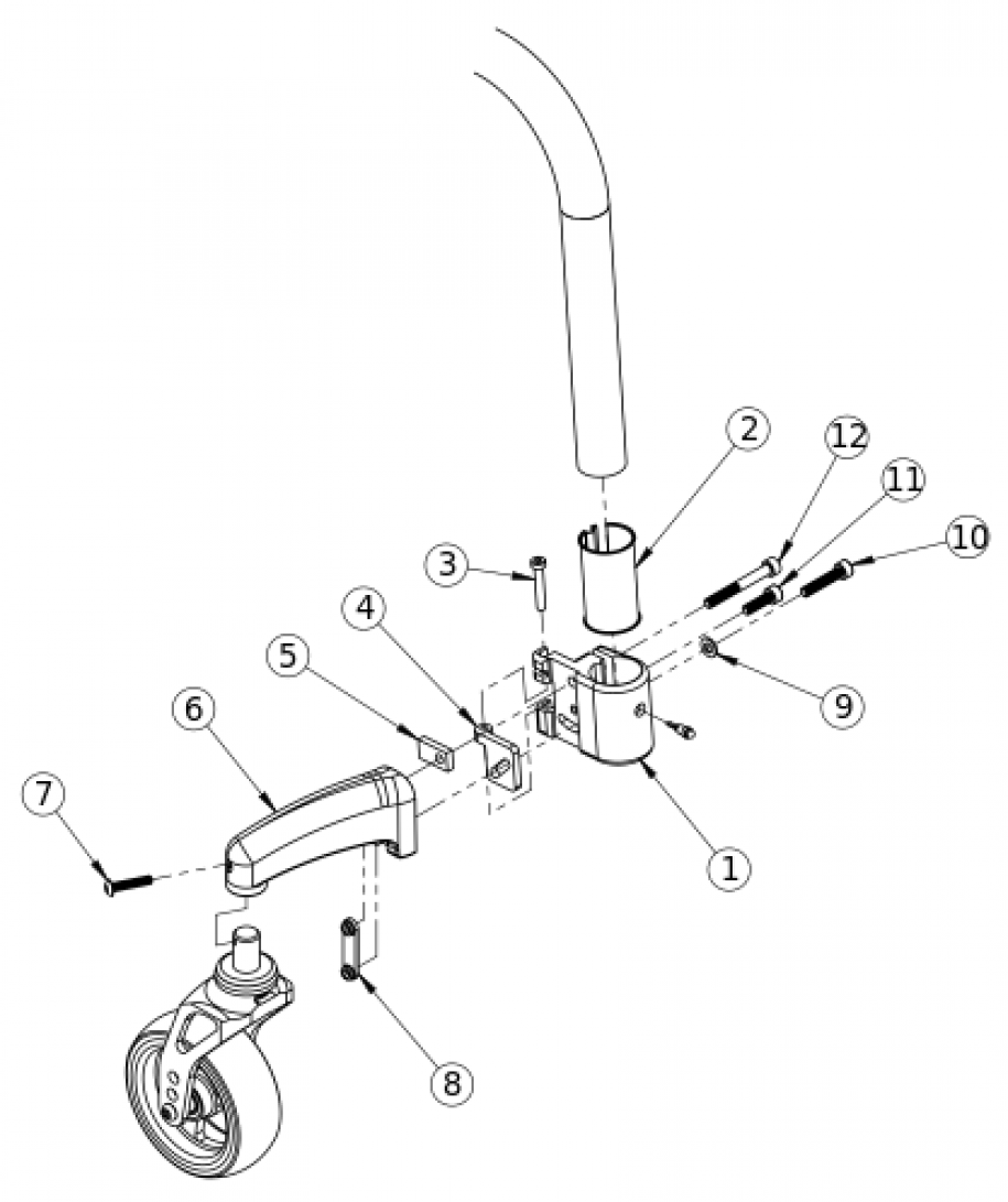 Discontinued Clik Caster Mount parts diagram