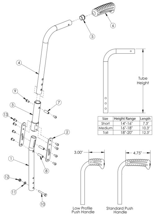 Catalyst Angle Adjustable Backrest parts diagram