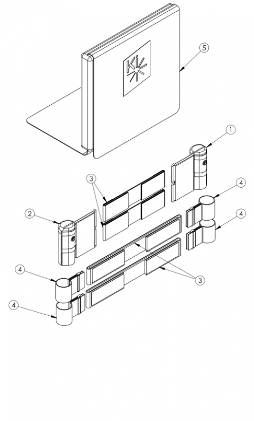 Discontinued Catalyst Half Folding Back Tension Adjustable Back Upholstery parts diagram
