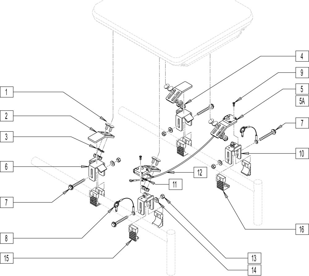 Height-adjustable Seat Hardware parts diagram