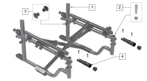 Hemi Frame parts diagram