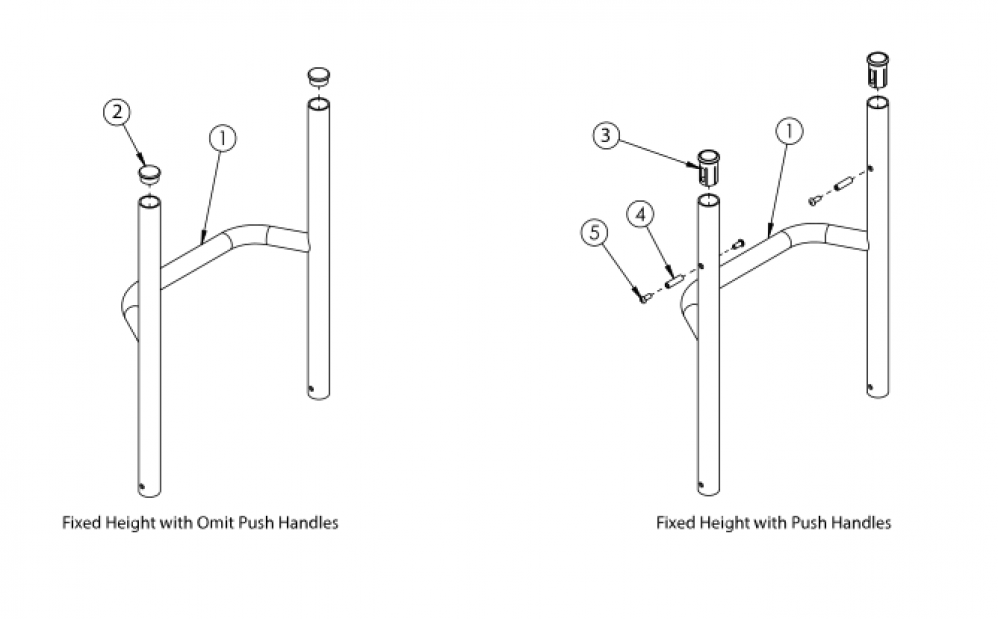 Rogue Style Fixed Height Backrest With Non-adjustable Height Rigidizer Bar On Tsunami - Growth parts diagram