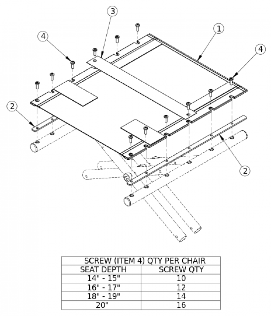 Catalyst Seat Upholstery parts diagram