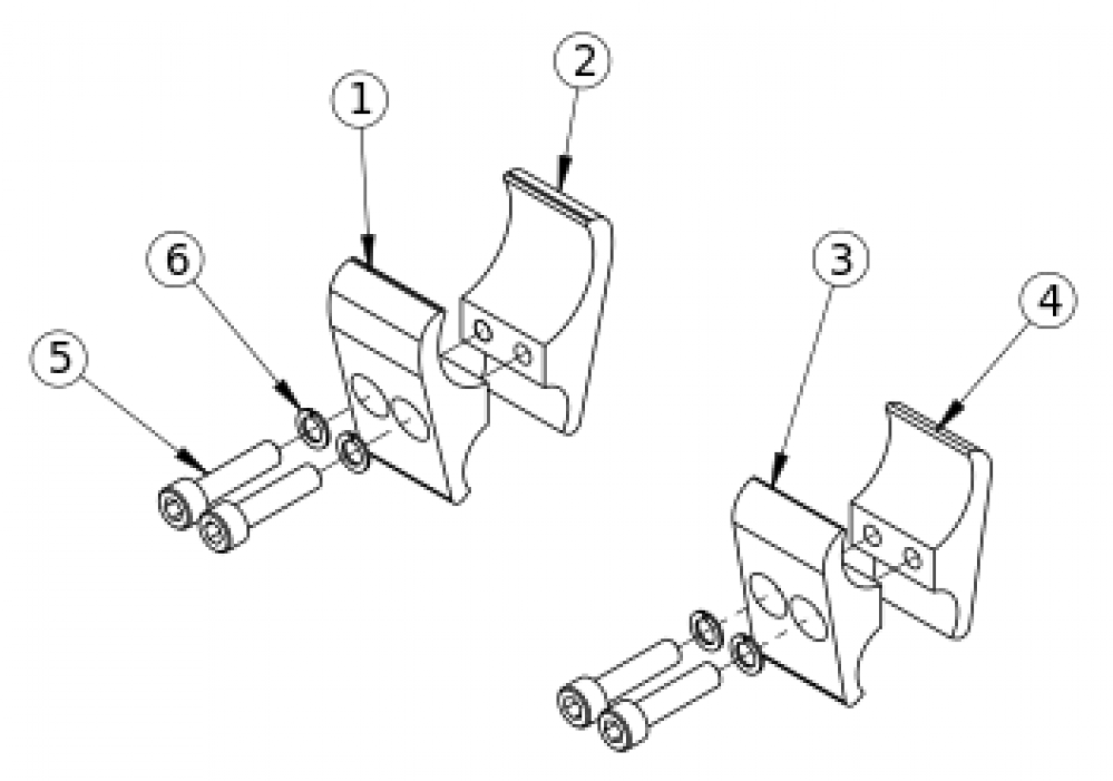 Rogue And Tsunami Wheel Lock Clamps parts diagram