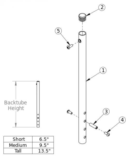 (discontinued) Rogue Backtube parts diagram