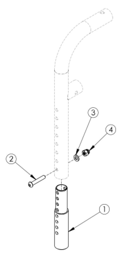Liberty Ft Front Mount Hanger Extension parts diagram