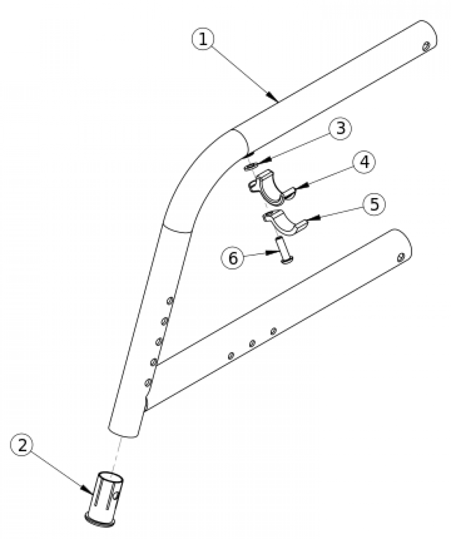 Catalyst 5ti 70 Degree Fixed Front Frame parts diagram