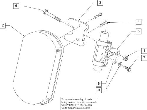 Articulating Hanger Calf Pad parts diagram