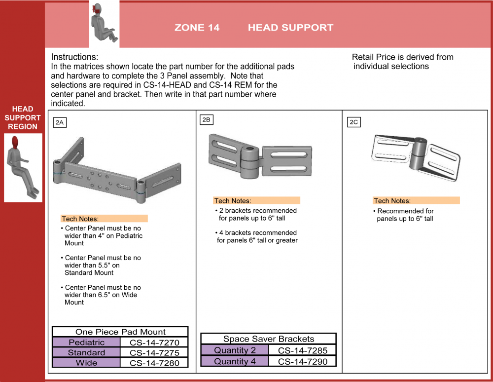 Cs-14-3p-os Step 2 Select Hdwr 3 Panel Head Support Legacy parts diagram