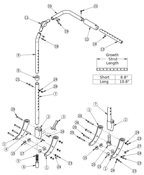 (discontinued 1) Focus Cr Height Adjustable Backrest parts diagram