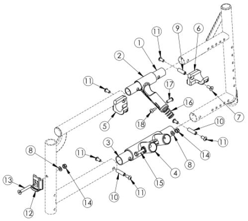 Catalyst 5vx Side Frame Assembly - Open Seating (seating System) parts diagram