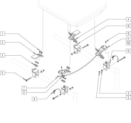 Standard Quick-mount Seat Hardware parts diagram