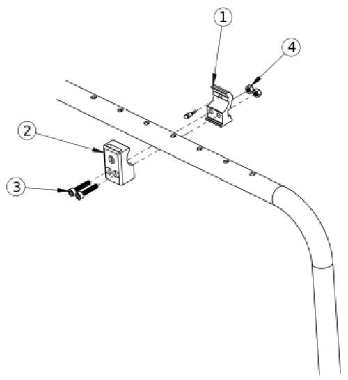 Clik Fender Side Guard Receiver parts diagram