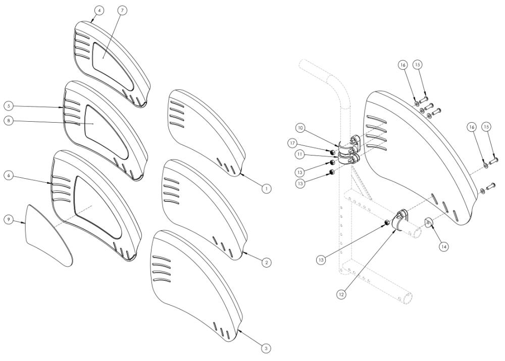 Catalyst 5vx Fixed Mount Fender Side Guard parts diagram