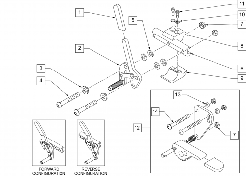 Wheel Lock Pull To Lock (quickie Style) parts diagram
