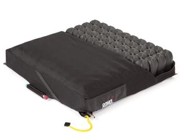 ROHO Quadtro Wheelchair Cushion half covered