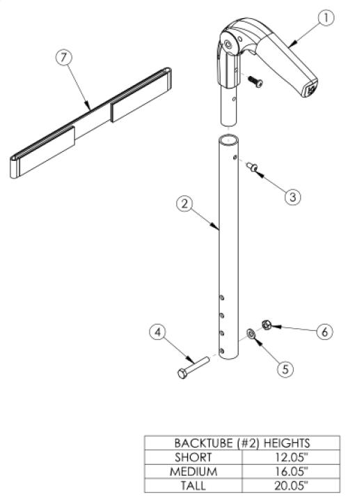 Catalyst Fold Down Push Handle parts diagram