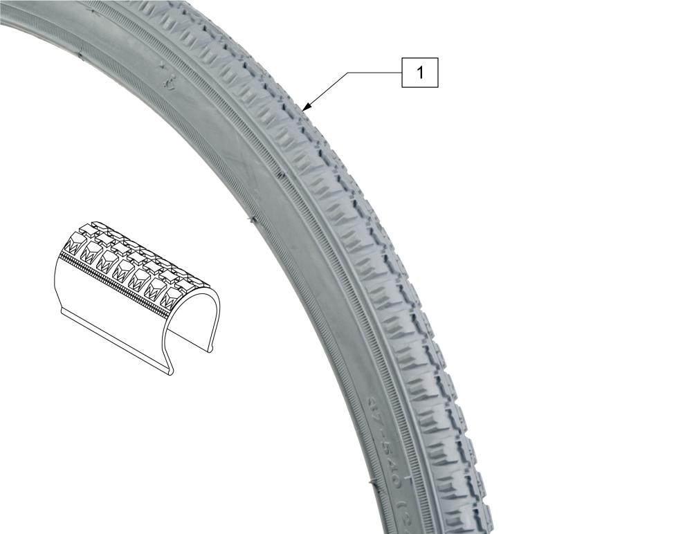 Pneumatic & Pneu. Airless Tire parts diagram
