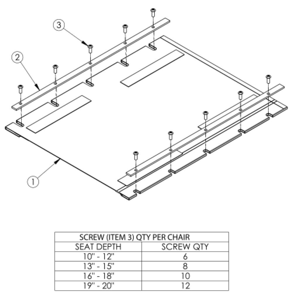 Rogue Xp Seat Upholstery parts diagram