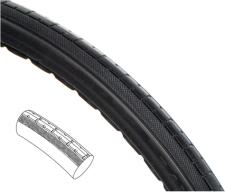 Full Polyurethane Wheelchair Tire - 24 x 1 3/8 (37-540)