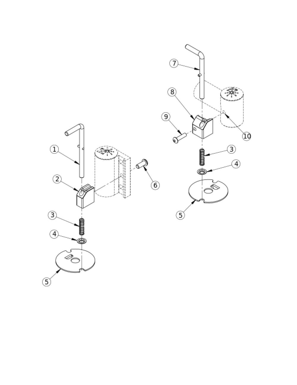 (discontinued) Caster Pin Locks parts diagram
