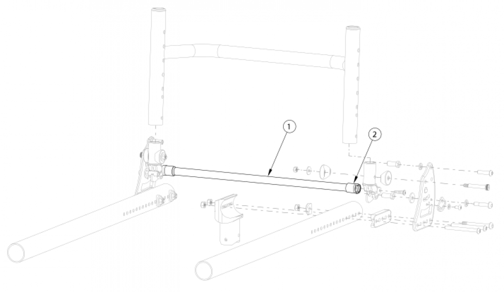 Rogue Style Locking Backrest Mount And Hardware On Tsunami - Growth parts diagram