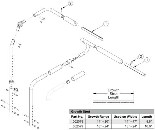 Focus Cr Seating Dynamics Rocker Back - Growth parts diagram