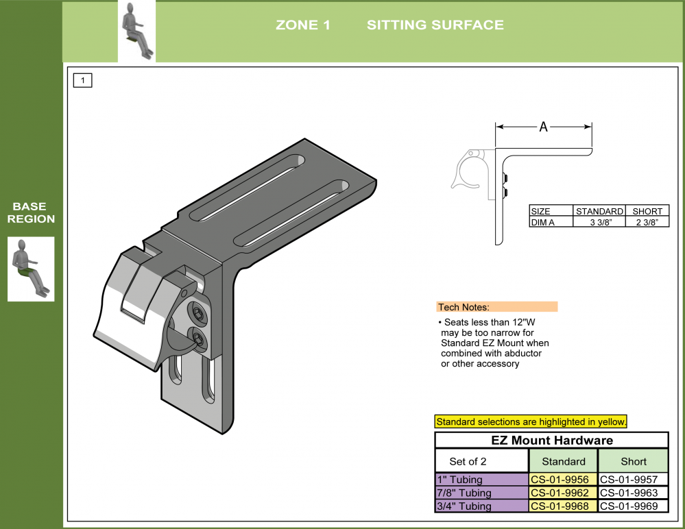 Cs-01-seat Step 6 - Select Attachment Hardware Front (2of7) parts diagram