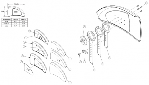 Catalyst 5ti Adjustable Fender Side Guard parts diagram