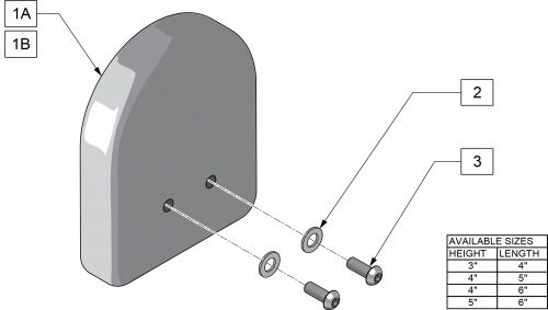 Lateral Pads (pelvic & Thigh Support) parts diagram