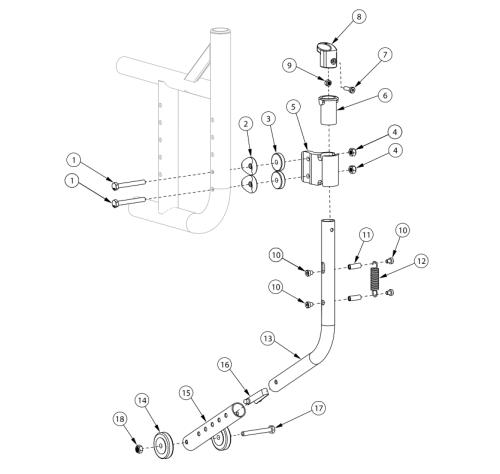 Catalyst 5 Swing-in Anti-tip parts diagram
