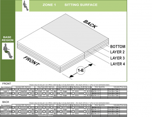 Cs-01-2120 Custom Foam - Front Back parts diagram