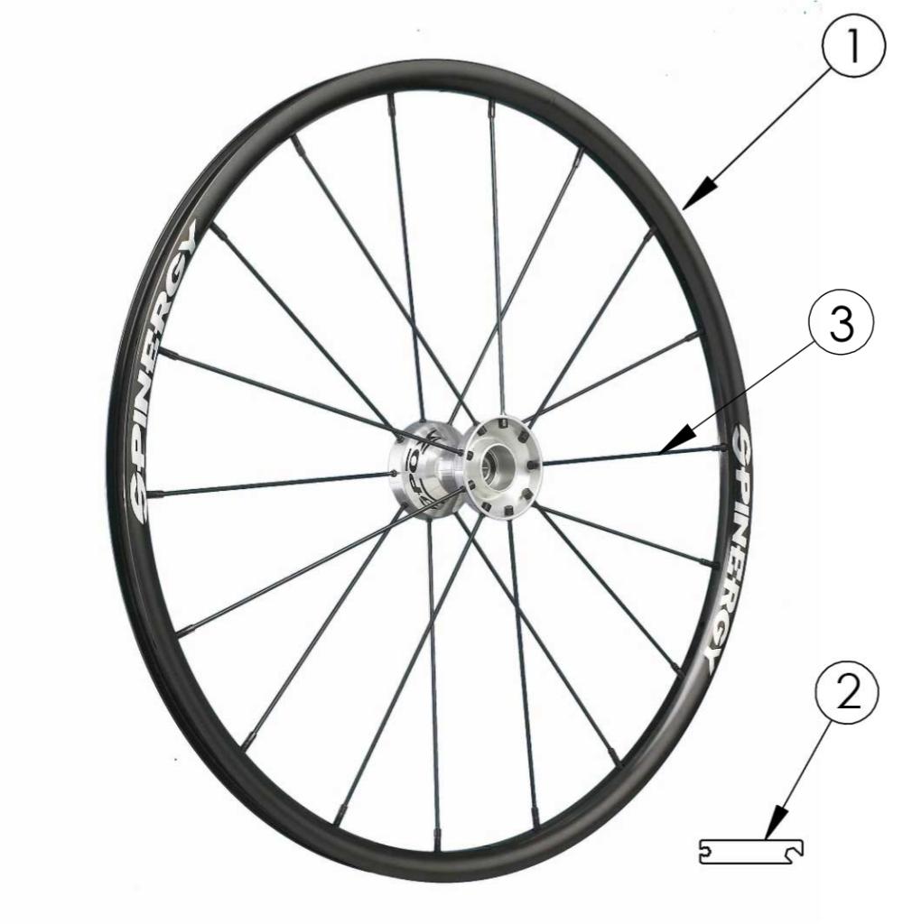 Spark Spinergy Spox Wheel parts diagram