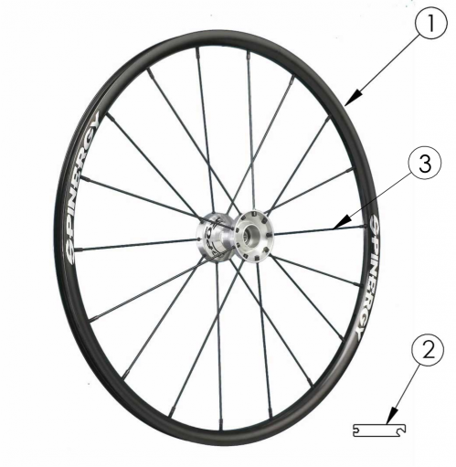 Spinergy Spox Wheel parts diagram