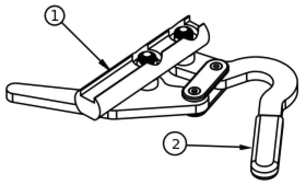 Under Seat Scissor Wheel Lock parts diagram