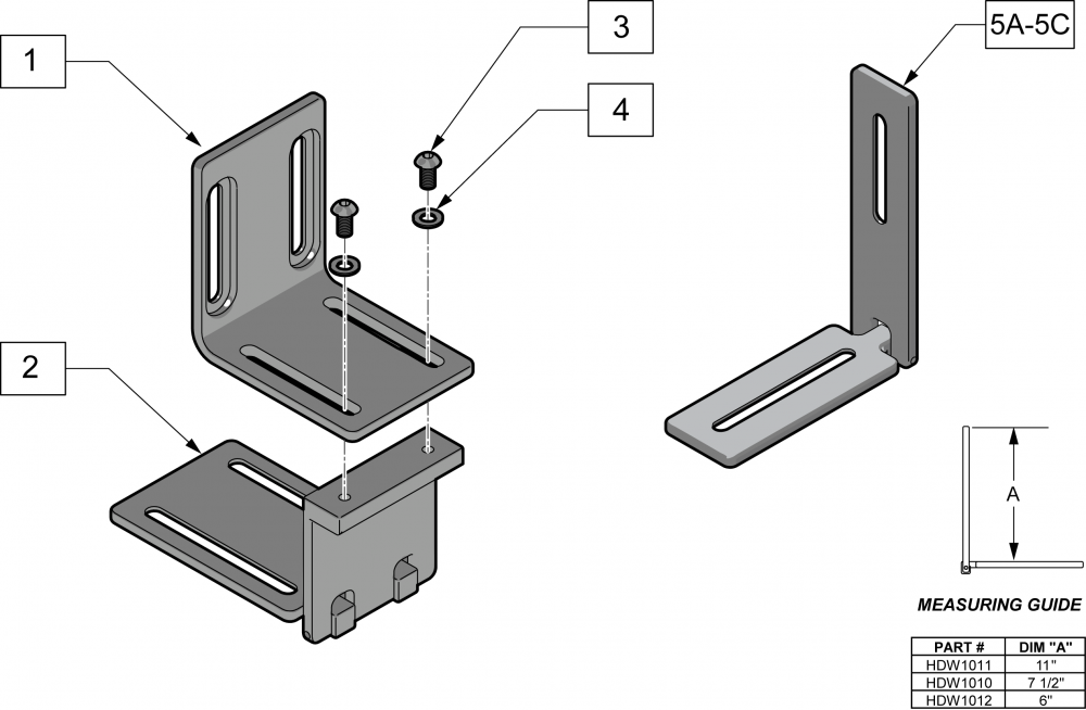 Seat-to-back Brackets parts diagram